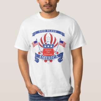 Patriotic Red, White & Blue Bald Eagle T-Shirt