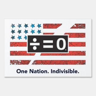 Patriotic Red White Blue Divided America Flag