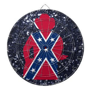 Patriotic Red White & Blue Guitarist Dartboard