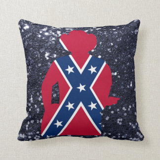Patriotic Red White & Blue Guitarist Throw Pillow