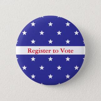 Patriotic Red White & Blue Register to Vote Button