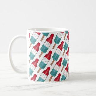 Patriotic Red White Blue Rocket Pop Popsicle USA Coffee Mug