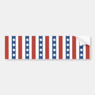 Patriotic Red White Blue Stars and Stripes Freedom Bumper Sticker