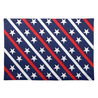 patriotic red white blue stars placemat
