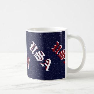 Patriotic Red White Blue USA America CricketDiane Coffee Mug