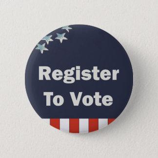 Patriotic Register to Vote 2 Inch Round Button