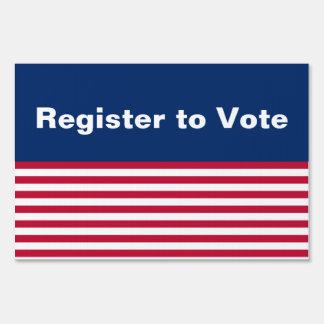 Patriotic Register to Vote Yard Sign