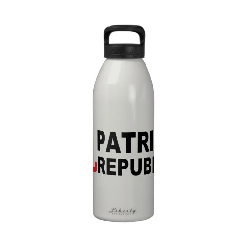 Patriotic Republican with Elephant Drinking Bottle