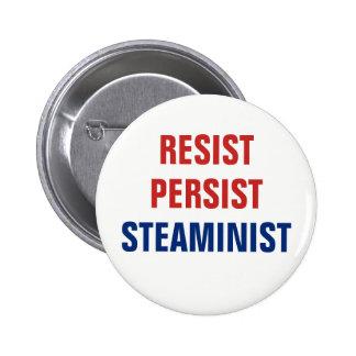 Patriotic Resist Persist STEAMinist STEAM Resist 2 Inch Round Button