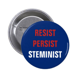 Patriotic Resist Persist STEMinist STEM Resistance 2 Inch Round Button