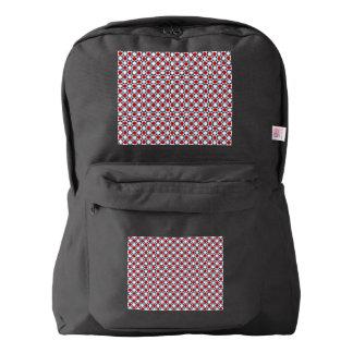 Patriotic Retro Dots Pattern Backpack