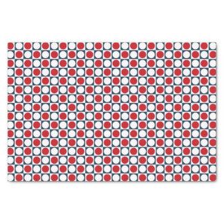 Patriotic Retro Dots Pattern Tissue Paper