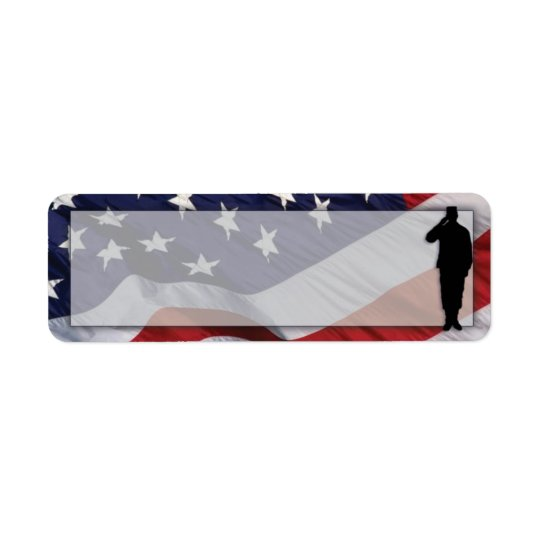 Patriotic Return Address Label