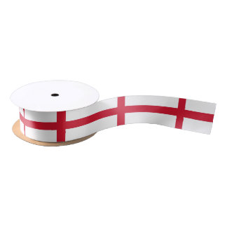 Patriotic Ribbon with Flag of England Satin Ribbon