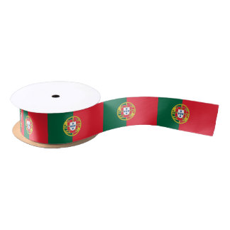 Patriotic Ribbon with Flag of Portugal Satin Ribbon