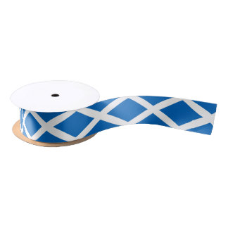 Patriotic Ribbon with Flag of Scotland Satin Ribbon