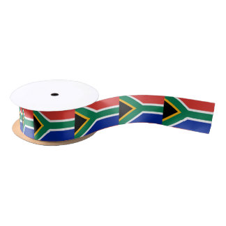 Patriotic Ribbon with Flag of South Africa Satin Ribbon