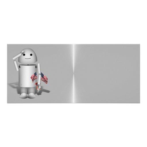 Patriotic Robo-x9 - Remember Memorial Day Rack Card