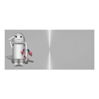 Patriotic Robo-x9 - Remember Memorial Day Personalized Rack Card