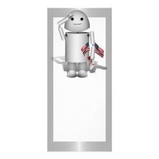 Patriotic Robo-x9 - Remember Memorial Day Full Color Rack Card