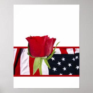 Patriotic Rose Poster