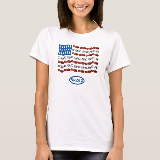 Patriotic runner (US Flag with feet and shoes) T-Shirt