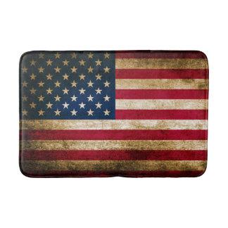 Patriotic Rustic American Flag Bathroom Mat