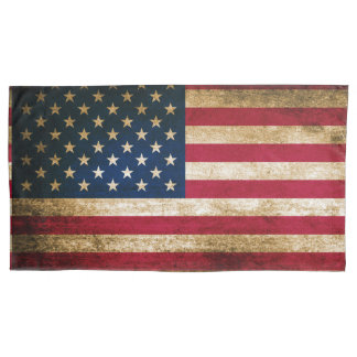 Patriotic Rustic American Flag Pillowcase
