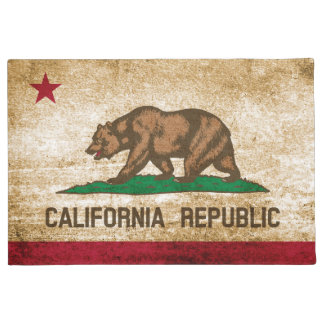 Patriotic Rustic California Republic Flag Doormat