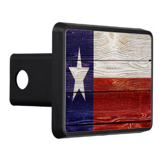 Patriotic Rustic Wood Texas Flag Trailer Hitch Cover
