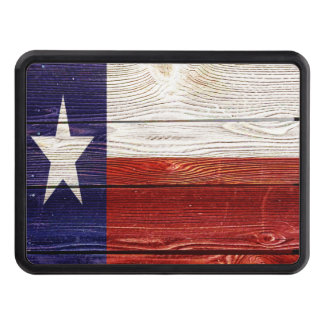 Patriotic Rustic Wood Texas Flag Trailer Hitch Covers