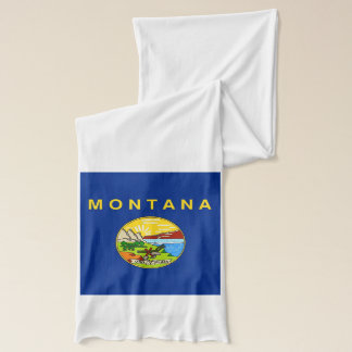 Patriotic Scarf with Flag of Montana