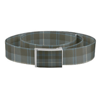 Patriotic Scottish Clan Fraser Plaid Tartan Belt
