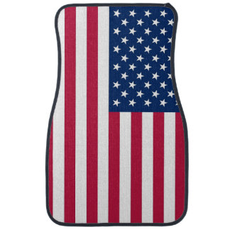Patriotic, set of car mats with Flag of USA