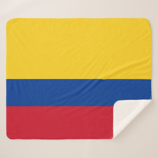 Patriotic Sherpa Blanket with Colombia flag