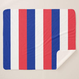Patriotic Sherpa Blanket with France flag