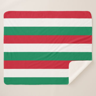 Patriotic Sherpa Blanket with Hungary flag
