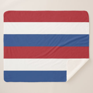 Patriotic Sherpa Blanket with Netherlands flag