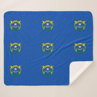 Patriotic Sherpa Blanket with Nevada flag