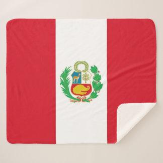 Patriotic Sherpa Blanket with Peru flag