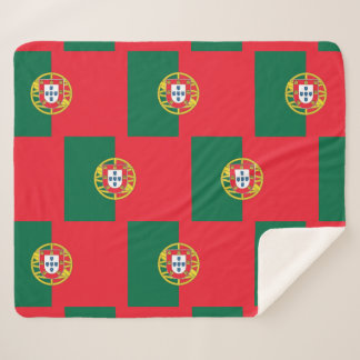 Patriotic Sherpa Blanket with Portugal flag