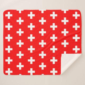 Patriotic Sherpa Blanket with Switzerland flag