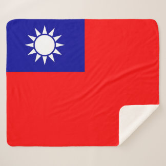Patriotic Sherpa Blanket with Taiwan flag