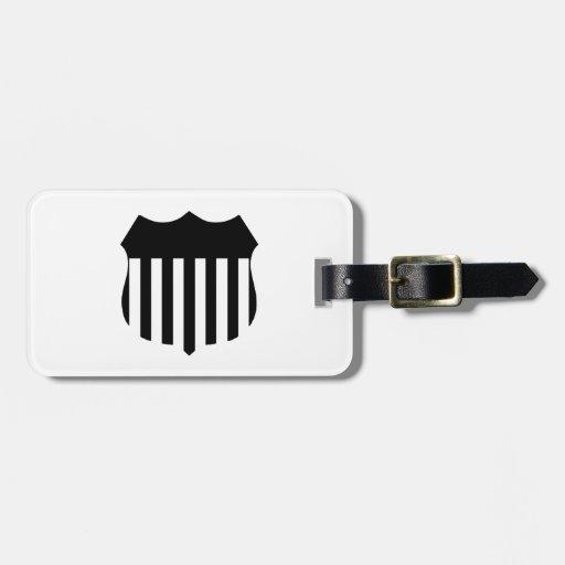 Patriotic Shield Bag Tag