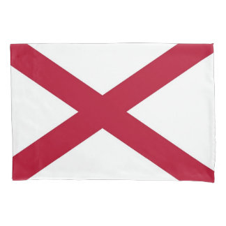 Patriotic Single Pillowcase flag of Alabama, USA