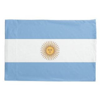 Patriotic Single Pillowcase flag of Argentina