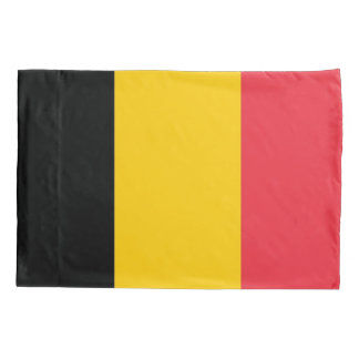 Patriotic Single Pillowcase flag of Belgium