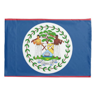 Patriotic Single Pillowcase flag of Belize