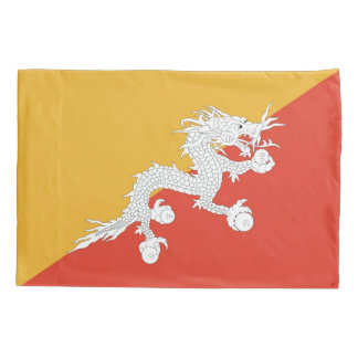 Patriotic Single Pillowcase flag of Bhutan