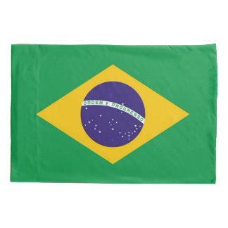 Patriotic Single Pillowcase flag of Brazil